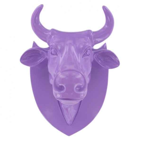 Vache tete violet Art in the City -80987