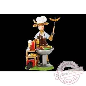 Figurine Vache 20cm mr. grill Art in the City 84141