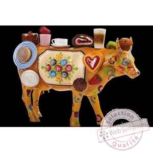Figurine Vache 50cm enjoy the good things in life Art in the City 84256