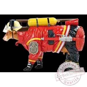 Figurine Vache firefighter 32cm Art in the City 80646