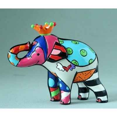Mini figurine elephant orange king britto romero -b334447
