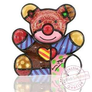 Mini figurine ours cœur love bear Britto Romero -331389