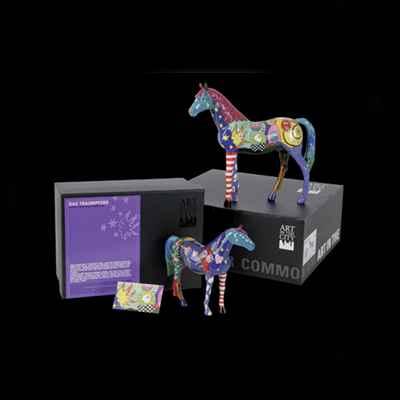 cheval harle quin art in the city 80283dimension du cheval 20x17 cm figurine livre en coffret cadeau - Cadeau Cheval