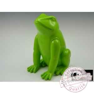 Objet decoration color grenouille verte 41cm Edelweiss -C9120
