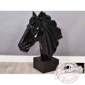 Objet decoration illusion tete cheval design Edelweiss -C8852