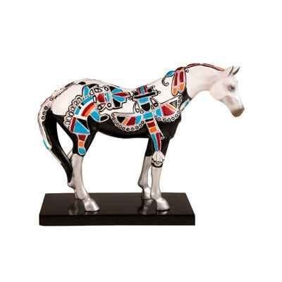 Figurine Cheval Painted Ponies Zuni Silver -PO12303