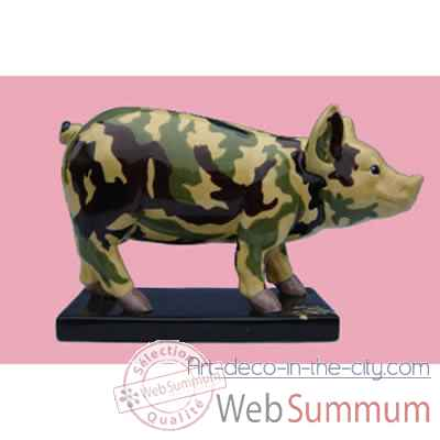 Video Figurine Cochon - Party Piggies - Couchon Camouflage - PAP02
