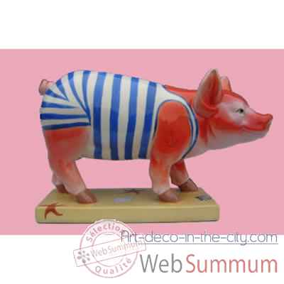 Figurine Cochon - Party Piggies - A day at the Beach - PAP09