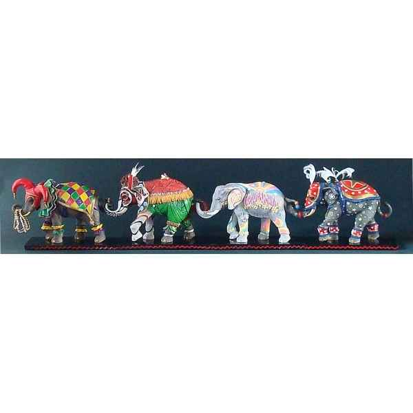 Figurine elephant - flower power  - tu13078