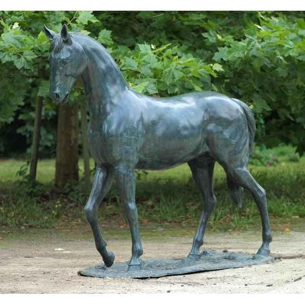 Sculpture bronze grand cheval -B674