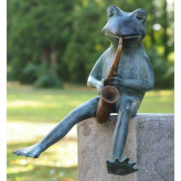 Grenouille avec sax Thermobrass -AN1935BR-V-F