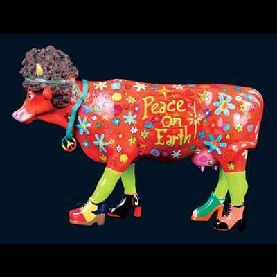 Vache Flower Power Hippie Cow Art in the City - 80612