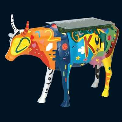 Video Vache Rouge Noir Table Cow Art in the City - 80901